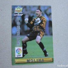 Cartes à collectionner de Football: MUNDICROMO FICHAS LIGA 96 97 ZAMORA Nº 423 MOLINA ATLETICO MADRID 1996 1997. Lote 242207540
