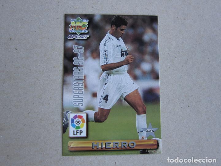 MUNDICROMO FICHAS LIGA 96 97 SUPERSTARS Nº 435 HIERRO REDONDO REAL MADRID 1996 1997 (Coleccionismo Deportivo - Álbumes y Cromos de Deportes - Cromos de Fútbol)