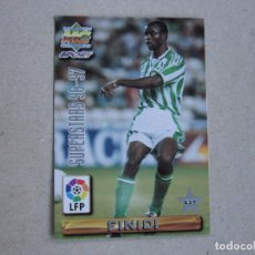 Cartes à collectionner de Football: MUNDICROMO FICHAS LIGA 96 97 SUPERSTARS Nº 437 FINIDI JARNI BETIS 1996 1997. Lote 242208620