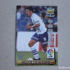 Cartes à collectionner de Football: MUNDICROMO FICHAS LIGA 96 97 SUPERSTARS Nº 442 MORIENTES GUSTAVO LOPEZ ZARAGOZA 1996 1997. Lote 242205070