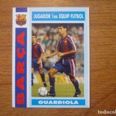 Cromos de Fútbol: CROMO TRADING CARD BARÇA TEMPORADA 92 93 Nº 57 PEP GUARDIOLA (PRIMER EQUIP) - 1992 1993 BARCELONA. Lote 150675174