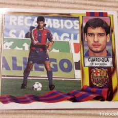 Cromos de Fútbol: CROMO GUARDIOLA (F.C. BARCELONA) LIGA 95-96 (1995 1996) ÁLBUM ESTE (SIN PEGAR). Lote 150843062