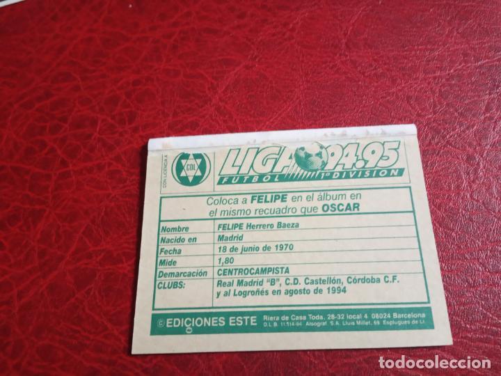 Cromos de Fútbol: GUDELJ LOGROÑES ED ESTE 94 95 CROMO FUTBOL LIGA 1994 1995 - VENTANILLA - 600 COLOCA - Foto 2 - 150974038