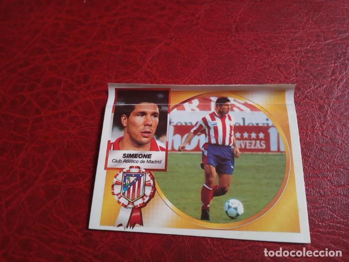 SIMEONE AT MADRID ED ESTE 94 95 CROMO FUTBOL LIGA 1994 1995 - VENTANILLA - 598 COLOCA (Coleccionismo Deportivo - Álbumes y Cromos de Deportes - Cromos de Fútbol)