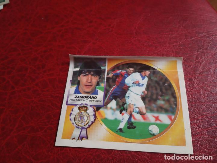 ZAMORANO REAL MADRID ED ESTE 94 95 CROMO FUTBOL LIGA 1994 1995 - VENTANILLA - 597 COLOCA (Coleccionismo Deportivo - Álbumes y Cromos de Deportes - Cromos de Fútbol)