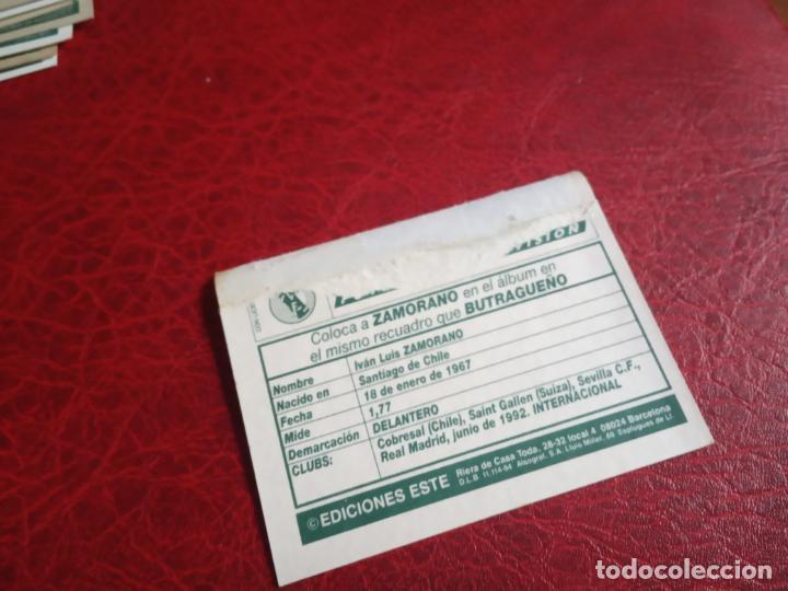 Cromos de Fútbol: ZAMORANO REAL MADRID ED ESTE 94 95 CROMO FUTBOL LIGA 1994 1995 - VENTANILLA - 597 COLOCA - Foto 2 - 150974218