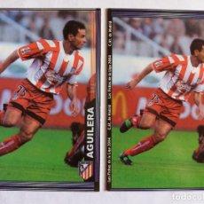 Cromos de Fútbol: LOTE 2 VERSIONES 308 AGUILERA: CON FOTO GRANDE Y FOTO PEQUEÑA - MUNDICROMO 2004. Lote 151458902