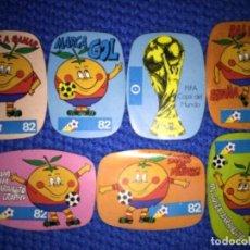 Cromos de Fútbol: NARANJITO 7 CROMOS MUNDIAL ESPAÑA 82 NO CROPAN. Lote 151459578
