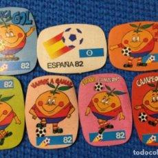 Cromos de Fútbol: NARANJITO 7 CROMOS MUNDIAL ESPAÑA 82 NO CROPAN . Lote 151459698