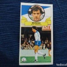 Cromos de Fútbol: 85/86 ESTE. NUNCA PEGADO REAL ZARAGOZA MORENO BAJA . Lote 151485574