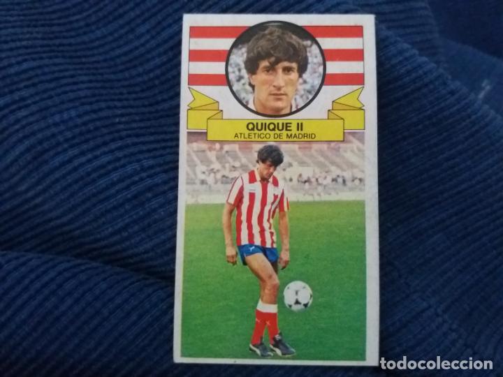85/86 ESTE. NUNCA PEGADO FICHAJE 18 AT. MADRID QUIQUE SETIEN VERSIÓN (Coleccionismo Deportivo - Álbumes y Cromos de Deportes - Cromos de Fútbol)