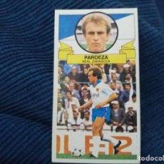 Cromos de Fútbol: 85/86 ESTE. NUNCA PEGADO FICHAJE 17 REAL ZARAGOZA PARDEZA. Lote 151488018
