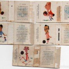 Cromos de Fútbol: 5 CAJAS DE CERILLAS, PESUDO - ZAMORA- MARIGIL - AGUIRRE- ZOCO,1959, SUELTOS A 4 EUROS UNIDAD. Lote 151491286