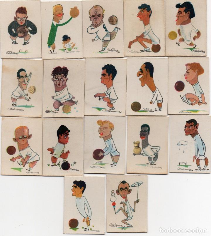 REAL MADRID, 17 TAPAS DE CAJAS DE CERILLAS 1959, (Coleccionismo Deportivo - Álbumes y Cromos de Deportes - Cromos de Fútbol)
