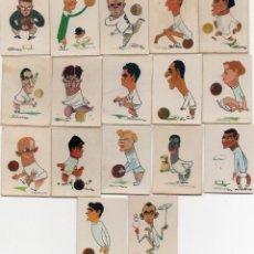 Cromos de Fútbol: REAL MADRID, 17 TAPAS DE CAJAS DE CERILLAS 1959,. Lote 151494118