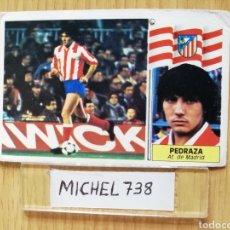 Cromos de Fútbol: ESTE LIGA 86 /87 PEDRAZA.. BAJA.. ATLÉTICO DE MADRID.. NUNCA PEGADO.. SIN PEGAR... Lote 151555226