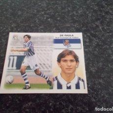 Cromos de Fútbol: CROMO ESTE 99/2000/ , DE PAULA ( REAL SOCIEDAD ) NUNCA PEGADO. Lote 151579462