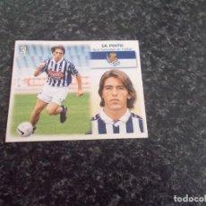 Cromos de Fútbol: CROMO ESTE 99/2000/ , SA PINTO ( REAL SOCIEDAD ) NUNCA PEGADO. Lote 151579670