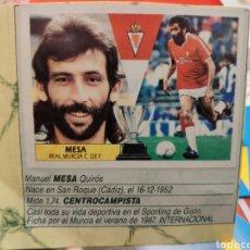 Cromos de Fútbol: CROMO EDICIONES ESTE TEMPORADA 87-88 MESA BAJA. Lote 151707333
