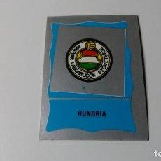 Cromos de Fútbol: ESCUDO HUNGRIA HUNGARY EDITORIAL REYAUCA MUNDIAL FUTBOL MEXICO 1986 WORLD CUP NUEVO NO ESTE PANINI. Lote 151912106