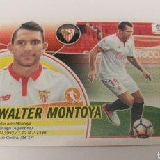 Cromos de Fútbol: WALTER MONTOYA N 33 MERCADO INVIERNO SEVILLA LIGA ESTE PANINI 2016 2017 16 17. Lote 151912120