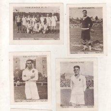 Cromos de Fútbol: LOTE DE 6 CROMOS DE FUTBOL VALENCIA SERIE 56 ALBUM CUPON PENINSULAR TOMO 1,1932-1933. Lote 152180934