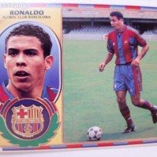 Cromos de Fútbol: COLECCIONES ESTE RONALDO DE DOS MANERAS F.C. BARCELONA CON PELO Y SIN PELO TEMPORADA 96\97. Lote 152201410