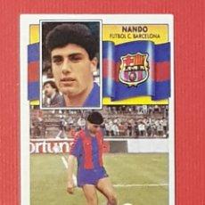 Cromos de Fútbol: ESTE 1990-1991 FICHAJE 34 NANDO FC BARCELONA 90-91. Lote 152383049