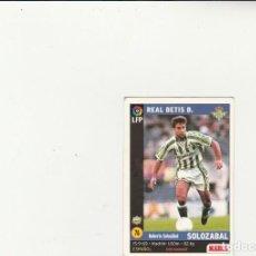 Cromos de Fútbol: MUNDICROMO SPORT 1998-1999 Nº 76 SOLOZABAL VERSION MARCA LIGA 98/99 REAL BETIS. Lote 152389762