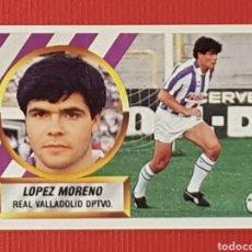 Cromos de Fútbol: ESTE 1988-1989 FICHAJE 17 LOPEZ MORENO VALLADOLID CROMO NUNCA PEGADO 88-89. Lote 152516334