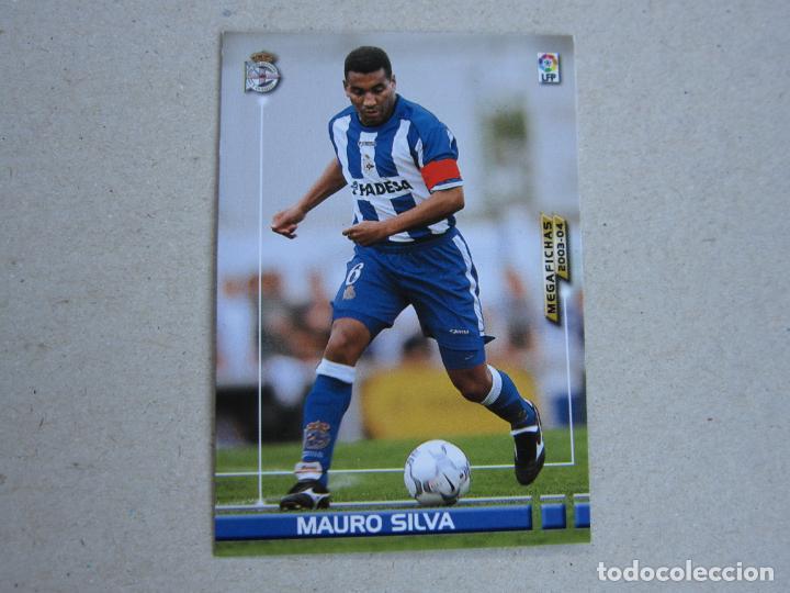 PANINI MEGAFICHAS 2003 2004 Nº 118 MAURO SILVA DEPORTIVO CORUÑA MEGACRACKS 03 04 (Coleccionismo Deportivo - Álbumes y Cromos de Deportes - Cromos de Fútbol)