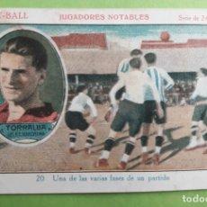 Cromos de Fútbol: CROMO JUGADORES NOTABLES. Nº 20. TORRALBA. FC BARCELONA. BARÇA. CHOCOLATES LA TROPICAL.. Lote 115514151