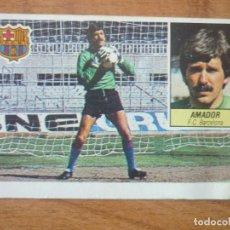 Cromos de Fútbol: CROMO LIGA ESTE 84 85 AMADOR (FC BARCELONA) - DESPEGADO - 1984 1985 BARÇA. Lote 152576734