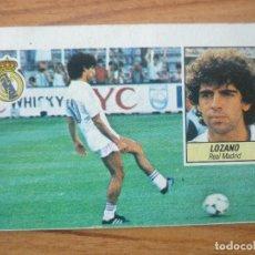 Cromos de Fútbol: CROMO LIGA ESTE 84 85 LOZANO (REAL MADRID) - DESPEGADO - 1984 1985 . Lote 152582222