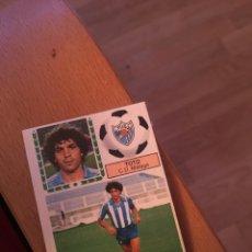Cromos de Fútbol: ESTE 83 84 1983 1984 DESPEGADO MALAGA TOTO. Lote 152582700