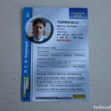 Cromos de Fútbol: PANINI MEGAFICHAS 2003 2004 ERROR Nº 130 TORRICELLI ESPANYOL MEGACRACKS 03 04. Lote 152660290