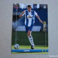 Cromos de Fútbol: PANINI MEGAFICHAS 2003 2004 Nº 131 LOPO ESPANYOL MEGACRACKS 03 04. Lote 152660410