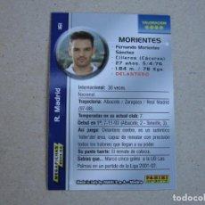 Cromos de Fútbol: PANINI MEGAFICHAS 2003 2004 BAJA CORREGIDO Nº 161 MORIENTES REAL MADRID MEGACRACKS 03 04. Lote 159040685