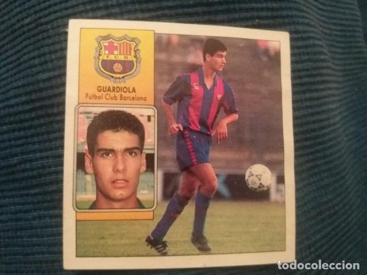 92/93 ESTE. CASI COMO NUNCA PEGADO BARCELONA GUARDIOLA (Coleccionismo Deportivo - Álbumes y Cromos de Deportes - Cromos de Fútbol)