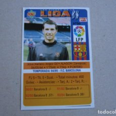 Cromos de Fútbol: MUNDICROMO FICHAS LIGA 95 96 ULTIMA HORA ERROR Nº 54 UH ANGOY BARCELONA 58 1995 1996. Lote 153968210