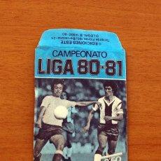 Cromos de Fútbol: SOBRE VACIO, SIN CROMOS - COLOR AZUL - CAMPEONATO LIGA 1980-1981, 80-81 - EDICIONES ESTE. Lote 154096481