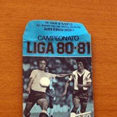 Cromos de Fútbol: SOBRE VACIO, SIN CROMOS - COLOR AZUL - CAMPEONATO LIGA 1980-1981, 80-81 - EDICIONES ESTE. Lote 154096662