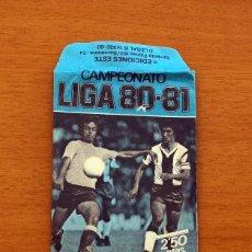Cromos de Fútbol: SOBRE VACIO, SIN CROMOS - COLOR AZUL - CAMPEONATO LIGA 1980-1981, 80-81 - EDICIONES ESTE. Lote 154096706
