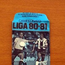 Cromos de Fútbol: SOBRE VACIO, SIN CROMOS - COLOR AZUL - CAMPEONATO LIGA 1980-1981, 80-81 - EDICIONES ESTE. Lote 154096754