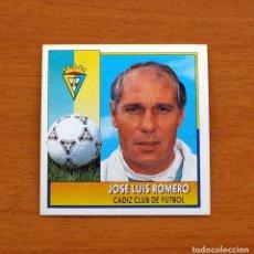 Cromos de Fútbol: CÁDIZ - JOSÉ LUIS ROMERO, ENTRENADOR - COLOCA - EDICIONES ESTE 1992-1993, 92-93 - NUNCA PEGADO. Lote 154593048