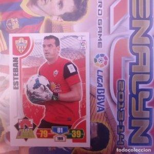 Nº 1 Esteban U.D. Almería. Adrenalyn 2013 2014 13 14 Panini. Trading card game. Liga BBVA