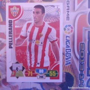 Nº 3 Pellerano U.D. Almería. Adrenalyn 2013 2014 13 14 Panini. Trading card game. Liga BBVA