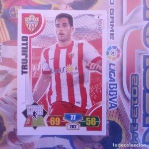 Nº 4 Trujillo U.D. Almería. Adrenalyn 2013 2014 13 14 Panini. Trading card game. Liga BBVA
