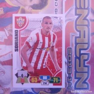 Nº 8 Soriano U.D. Almería. Adrenalyn 2013 2014 13 14 Panini. Trading card game. Liga BBVA
