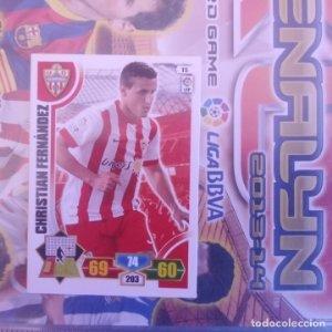 Nº 15 Christian Fernández Almería. Adrenalyn 2013 2014 13 14 Panini. Trading card game. Liga BBVA